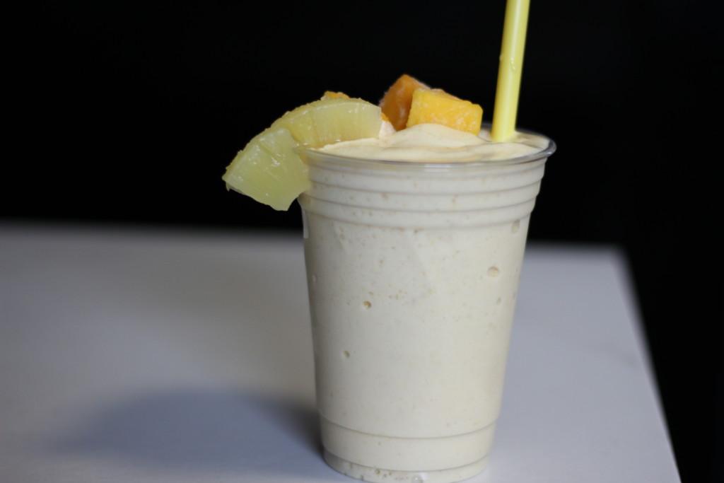 mango pineapple banana protein shake