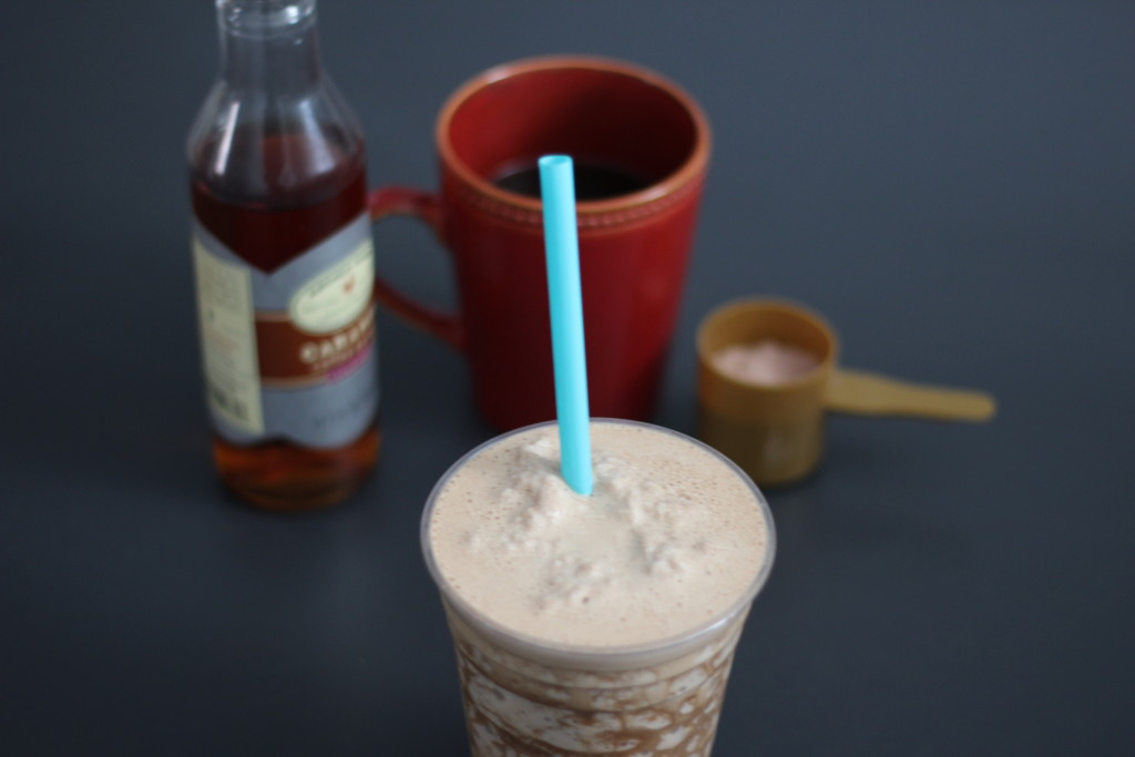 mocha caramel protein shake