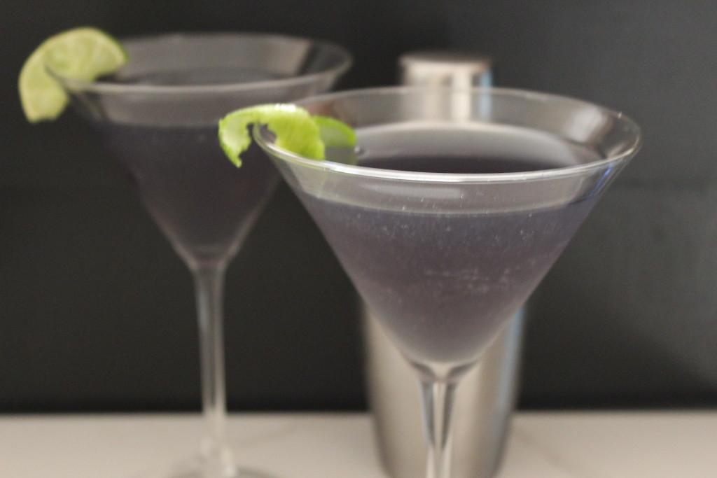 pretty purple martini