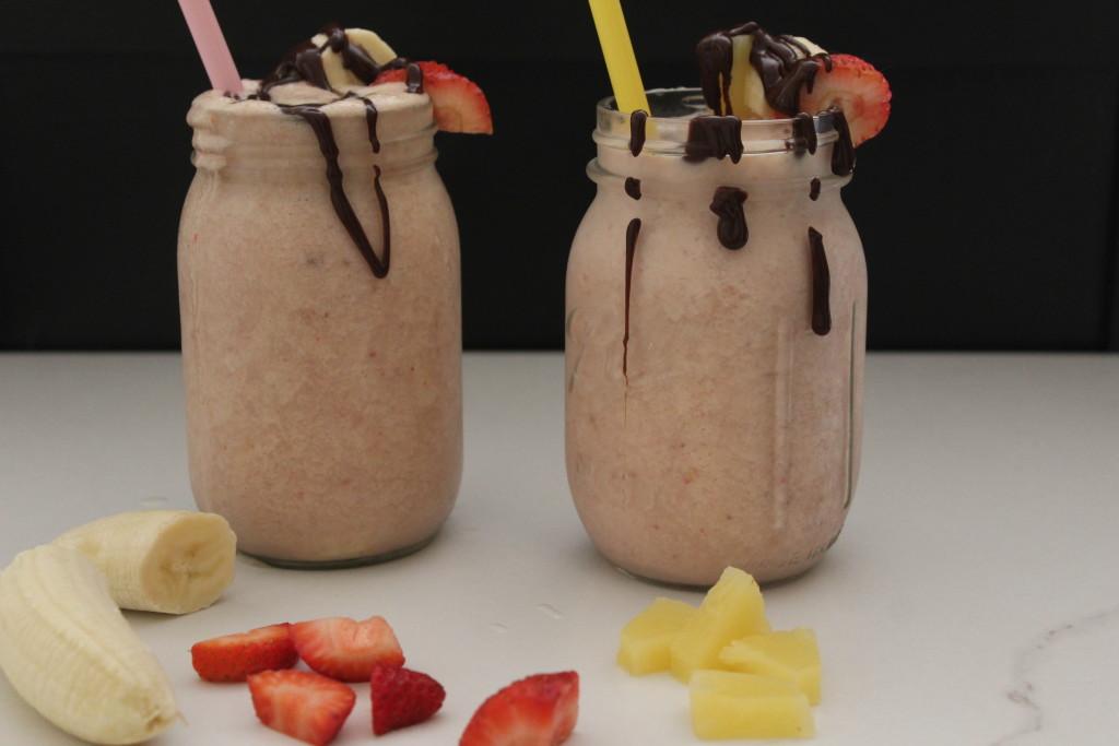 banana split protein shakes